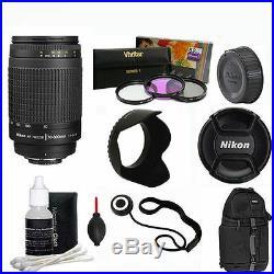 AF Zoom NIKKOR 70-300mm f4-5.6G Lens +BACKPACK FOR NIKON D3100 D3200 D3300 FM2