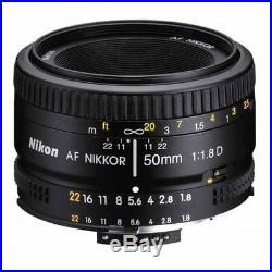 Brand New Original Nikon AF NIKKOR 50mm f/1.8D Black Lens UK On Salesau
