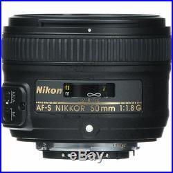 Christmas Deal 50mm 1.8 Nikon Nikkor 50 mm F/1.8G Fx G Swm Af-s Sic M/a Lens