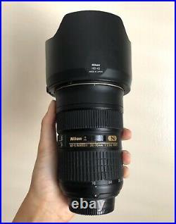 Excellent Nikon Nikkor AF-S 24-70mm f2.8 G ED IF ASPH Lens AFS with B+W UV Filter
