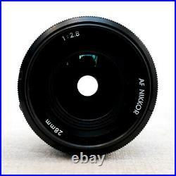 NIKON AF NIKKOR 28mm 2.8 Wide Angle Lens for NIKON AI SLR DSLR fit