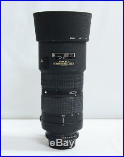 NIKON AF NIKKOR 80-200mm f/ 2.8D ED New Type Lens with Hood