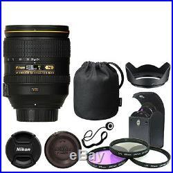 Nikon 24-120mm f/4G ED VR AF-S NIKKOR Lens Bundle Filters Hood Cap Keeper