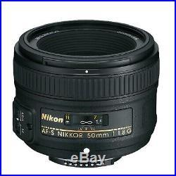 Nikon 50mm f/1.8G AF-S NIKKOR Lens for Nikon Digital SLR Cameras