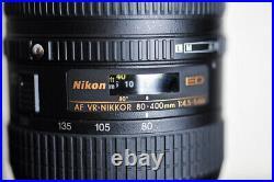 Nikon AF 80-400mm FX VR Telephoto Lens with UV Filter US Model & MINT