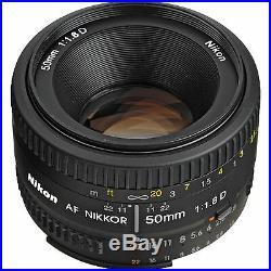 Nikon AF Nikkor 50mm f/1.8D Lens for DSLR Cameras