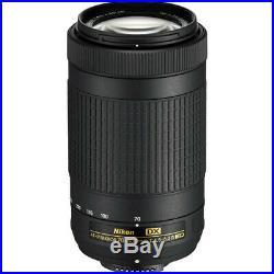 Nikon AF-P DX NIKKOR 70-300mm f/4.5-6.3G ED Lens Bundle with Deluxe Accessories