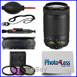 Nikon AF-P DX NIKKOR 70-300mm f/4.5-6.3G ED VR Lens Kit +Great Value Accessories