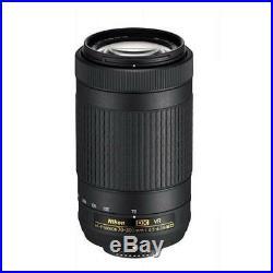 Nikon AF-P DX NIKKOR 70-300mm f/4.5-6.3G ED VR Lens with Accessories