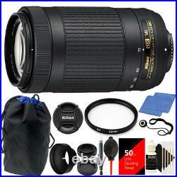 Nikon AF-P DX NIKKOR 70-300mm f/4.5-6.3G ED VR Lens with Deluxe Accessory Kit