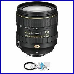 Nikon AF-S DX NIKKOR 16-80mm f/2.8-4E ED VR Lens + UV Filter & Cleaning Kit