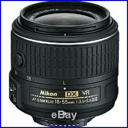 Nikon AF-S DX NIKKOR 18-55mm f/3.5-5.6G VR II Zoom Lens -Bulk Package
