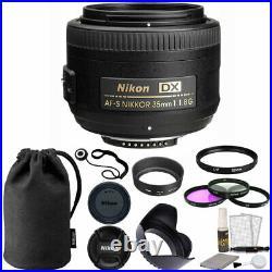 Nikon AF-S DX NIKKOR 35mm f/1.8G Lens + 52mm Top Value Accessory Kit