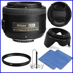 Nikon AF-S DX NIKKOR 35mm f/1.8G Lens for Nikon DLSR Cameras + Micro Cloth &More