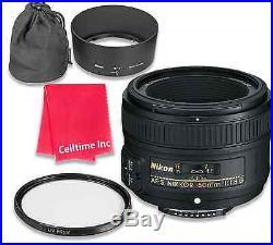 Nikon AF-S FX NIKKOR 50mm f/1.8G Lens with Auto Focus
