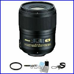 Nikon AF-S Micro-Nikkor 60mm f/2.8G ED Macro Autofocus Lens Package