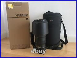 Nikon AF-S NIKKOR 200-500mm F/5.6E ED VR Mint Condition. Free Shipping