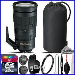 Nikon AF-S NIKKOR 200-500mm f/5.6E ED VR Lens + UV Filter + Case 32GB Kit
