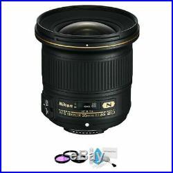 Nikon AF-S NIKKOR 20mm f/1.8G ED Lens + UV Kit & Cleaning Kit