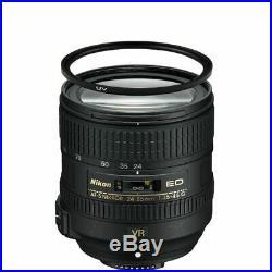 Nikon AF-S NIKKOR 24-85mm f/3.5-4.5G ED VR Lens with72mm UV Filter