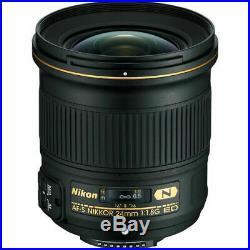 Nikon AF-S NIKKOR 24mm f/1.8G ED Lens + UV Filter & Cleaning Kit