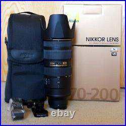 Nikon AF-S NIKKOR 70-200mm f/2.8G ED VR II Lens! Pristine! With RSS Foot