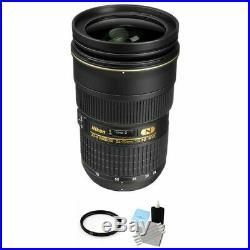 Nikon AF-S Nikkor 24-70mm f/2.8G ED Autofocus Lens + UV Filter & Cleaning Kit