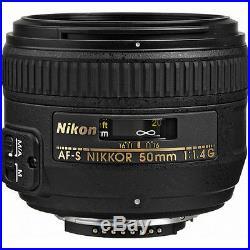 Nikon AF-S Nikkor 50mm f/1.4G Autofocus Lens 2180