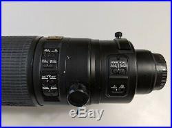 Nikon AF-S VR Zoom-Nikkor ED 200-400mm f/4G IF Lens with Hood & Accessories