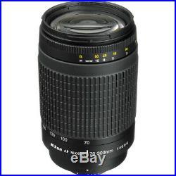 Nikon AF Zoom-NIKKOR 70-300mm f/4-5.6G Lens for Nikon DSLR Camera + UV Filter