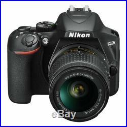 Nikon D3500 Digital SLR Camera w AF-P DX NIKKOR 18-55mm f/3.5-5.6G VR Lens Black