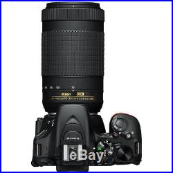 Nikon D5600 24.2 MP DSLR Camera AF-P DX 18-55mm and 70-300mm NIKKOR Lens Pro Kit