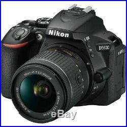 Nikon D5600 Digital SLR Camera + Nikkor 18-55mm VR AF-P Zoom Lens Kit