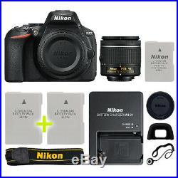 Nikon D5600 Digital SLR Camera with 18-55mm NIKKOR VR Lens + Backup Power Kit
