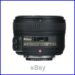 Nikon D750 FX-format Digital SLR Camera Body AF-S NIKKOR 50mm 1.8G Lens No Wifi