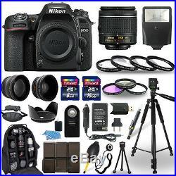 Nikon D7500 DSLR Camera + 18-55mm NIKKOR Lens + 30 Piece Accessory Bundle