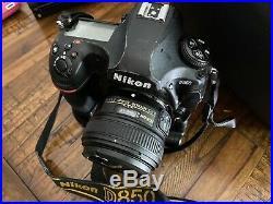 Nikon D850 Digital SLR Camera With 50mm 1.8 Nikkor Lens, Batteries, Grip, More