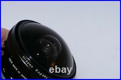 Nikon F Fisheye-NIKKOR 7.5mm f5.6 fisheye lens. Caps. Nikon F2, Nikon F3
