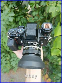 Nikon F3 HP with Nikon Nikkor 50mm 1.4 lens and accessories