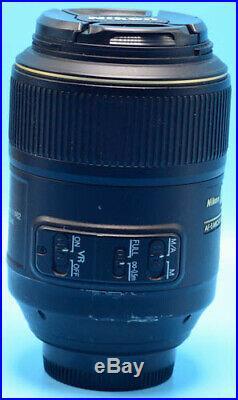 Nikon Micro NIKKOR 105mm f/2.8G AF-S VR IF-ED Lens EXc+++WithCaps