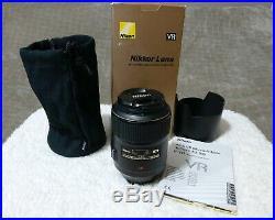 Nikon Micro NIKKOR 105mm f/2.8G AF-S VR IF-ED Lens NO RESERVE