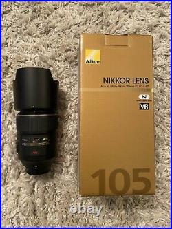 Nikon Micro NIKKOR 105mm f/2.8G AF-S VR IF-ED Lens. Used Only Once