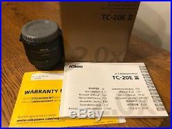 Nikon NIKKOR 200mm f/2G ED VR II Lens & TC20e III Teleconverter