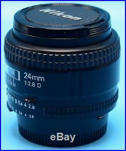 Nikon NIKKOR 24 mm F2.8D AF Lens EXc+++++++++WithCaps & FIlter