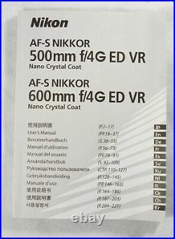 Nikon NIKKOR 500mm f/4 14G ED Lens VR