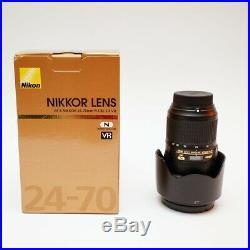 Nikon NIKKOR AF-S 24-70mm F/2.8E ED VR Lens EX +++ RECENTLY SERVICED FROM NIKON