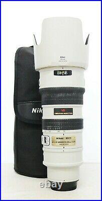 # Nikon NIKKOR AF-S 70-200mm f/2.8 VR IF G ED Lens (Gray) S/N 2049