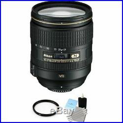 Nikon Nikkor AF-S 24-120mm F/4.0 VR ED G Lens + UV Filter & Cleaning Kit