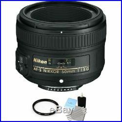 Nikon Nikkor AF-S 50 mm F/1.8G AF-D FX Lens + UV Filter & Cleaning Kit