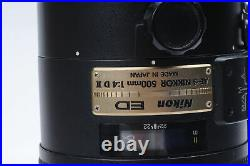 Nikon Nikkor AF-S 500mm f4 D ED II Lens 500/4 AFS #464